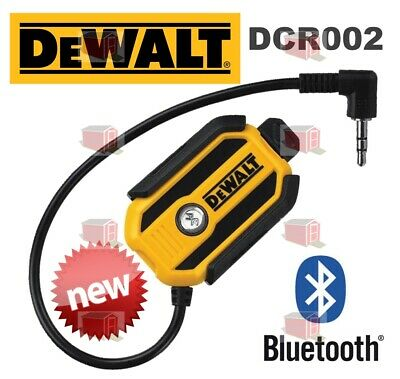 New Dewalt Dcr002 Rechargeable Bluetooth Adapter For Radio Hifi 3.5Mm Aux Rp$149