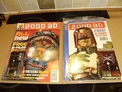 2000Ad Prog 1014 And Prog 1043 With Free Gifts Attached -Rare