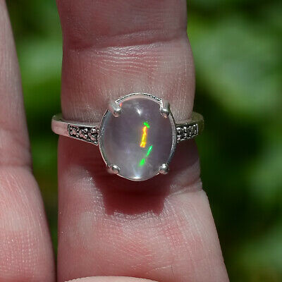 Very Rare Maui Estate 100% Natural WATER-CLEAR 2.31 Carat OPAL Crystal Solitaire