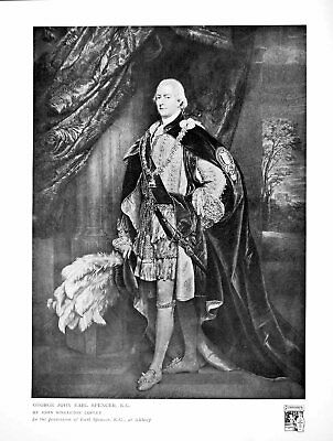 Old Antique Print George John Earl Spencer By John Singleton Copley 1915 20th