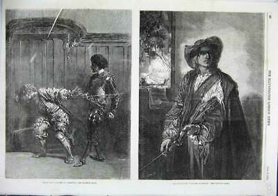 Old Antique Print Bravos Meissonier Art And Liberty Gallait 1856 Fine Art 19th