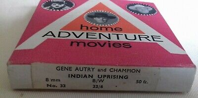 "Gene Autry and Champion  ""Indian Uprising"" 8 mm cine film   50ft"