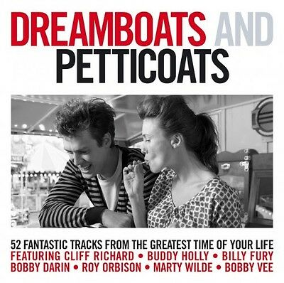 Dreamboats And Petticoats - Various - 2 X Cd Set - Buddy Holly / Marty Wilde +