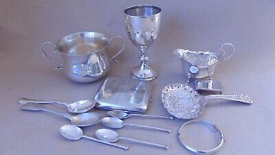 Job Lot Antique Sterling Silver For Use, Re-Sell, Spare Or Repair