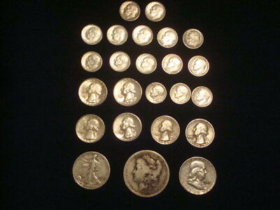 $5 Face Value Lot Of 90% Silver U.s. Coins Mixed Variety L11