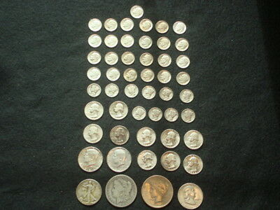 $10 Face Value Lot Of 90% Silver U.s. Coins Mixed Variety L5