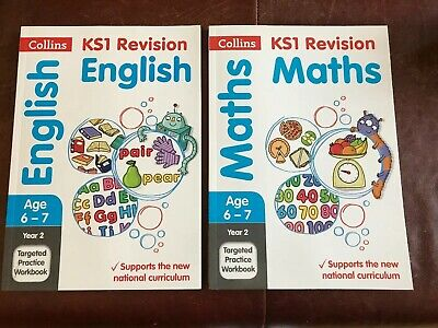 Collins Year 2 SATs Targeted Practice Workbooks KS1 Revision Maths and English