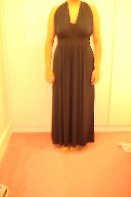 4e716103d91 Marks And Spencer Navy Wedding Bridesmaid Multiway Party Maxi Dress Uk Size  16