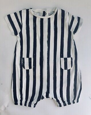 MY K Mothercare Baby Boy 0-3 Months Black And White Outfit Myleene Klass Romper