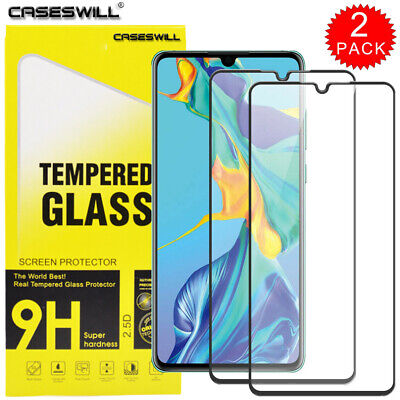 For Huawei P30 Pro P20 Mate 20 LITE FULL COVER Tempered Glass Screen Protector