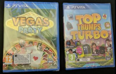 Vegas Party & Top Trumps Turbo Double NEW PS VITA 2 Games Bundle PSV Bargain