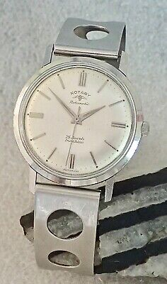 ROTARY Rotamatic Tissot Strap 25 jewels Automatic Gents Wristwatch Working 60s