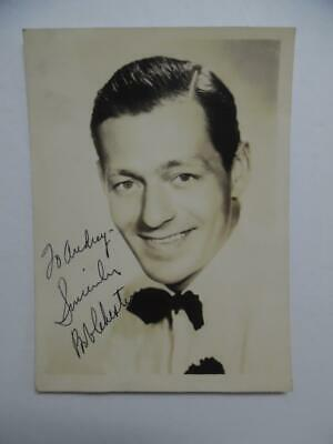 1941 BOB CHESTER Jazz Saxophonist Bandleader Signed Inscribed Photo Vintage VG