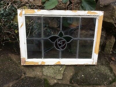 Art Nouveau 1930's damaged leaded window