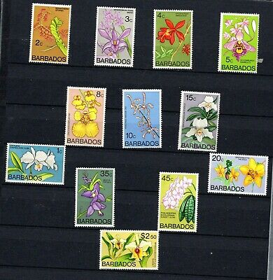 Barbados. 1974. Flowers. Orchids. A part set to $2.50. MNH.