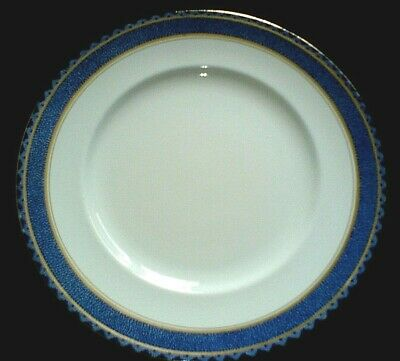 BOOTHS SILICON CHINA  Blue/Gold/White, Patt A32351 - 9 6/8 inch Plate x1 - c1930