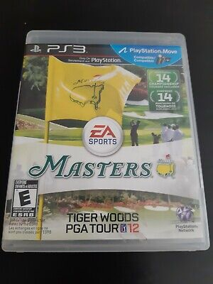Tiger Woods PGA Tour 12: The Masters (Sony PlayStation 3, 2011) Case wear.