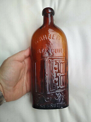 Warner's Safe Cure Pressburg - Great  Amber Color & Crudeness - Mint Condition!