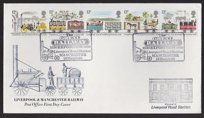 Great Britain 1980 FDC Post Office Cover Railway Liverpool Road Station Cancel