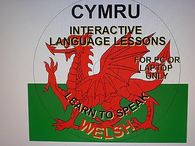 Learn To Speak Welsh Interactive Disc For Pc And Laptop Only.