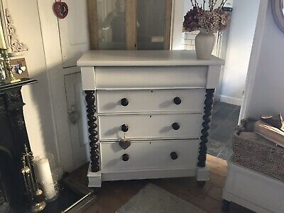 Antique Victorian Scottish Chest Of Drawers painted in farrow And Ball
