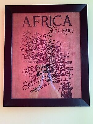 Vintage Bananaleaf Map Of Africa