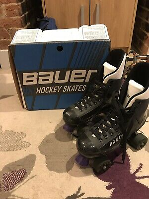 Bauer Turbo Roller Skates & Boot Liners, Sz 8, 1990s