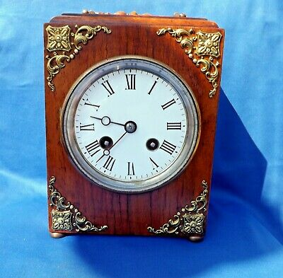 Antique Rare Japy Freres Tic Tac Carriage- Campaign Style Clock Striking On Bell