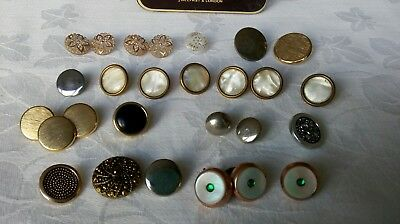 Vintage 27 Buttons Mixed Bundle includes some beautiful mother of pearl buttons