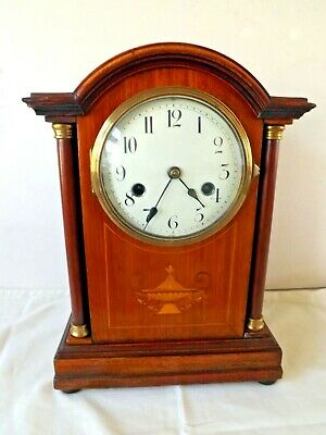 Antique Edwardian Hac Arch Top Bracket / Mantle Clock. Strike & Time Circa 1910.
