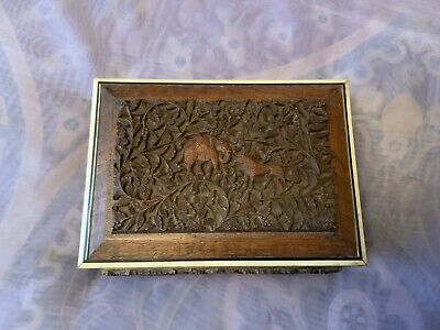 Vintage Anglo Indian Trinket Box With Working Lock & Key