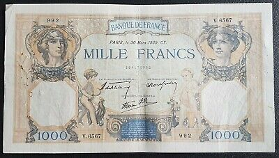 France - Francia - French Note - Billet 1000 Francs Sable 1939 - Ttb.
