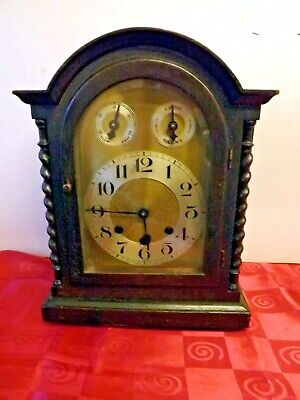 ANTIQUE ARCH TOP GERMAN BRACKET CLOCK. WESTMINSTER CHIME. Circa 1920'S.