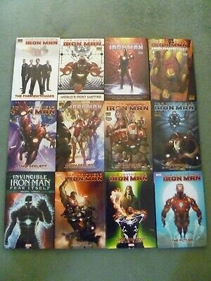 The Invincible Iron Man 12 Volumes Premier Edition Hardcover Fraction Marvel
