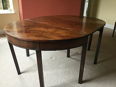 Handsome Antique Georgian D-End Cuban Flame Mahogany Adaptable Dining Tables