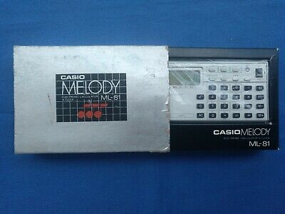 Calculadora Casio Melody Ml-81 Electronic Calculator & Clock Made In Japan