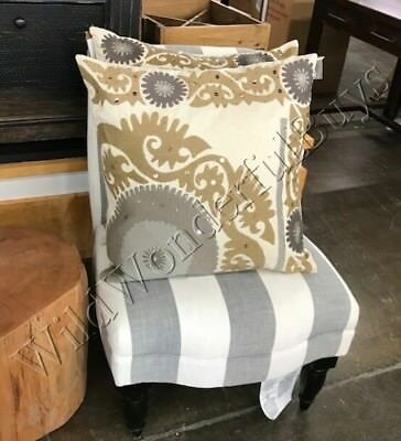 """New RARE Pottery Barn Anita Embroidered 24/"""" inch Pillow Cover-Christmas Holiday"""