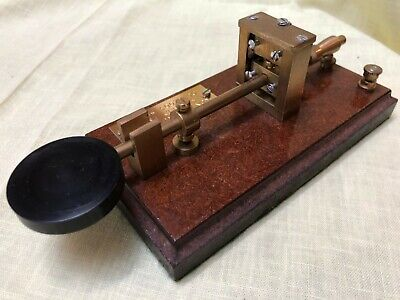 G3YUH Solid Brass Straight Key Morse Code Telegraph Ayling Master Collectible