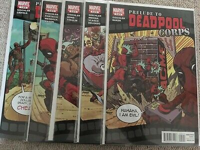 Prelude to Deadpool Corps #1 to #5 (2 3 4) - NM - complete series (Marvel 2010)