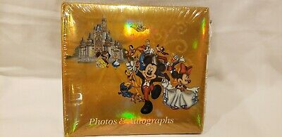 Unopened Vintage Disney autograph and photograph book with gel pen gold colored