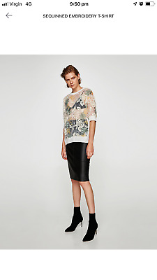 cc7582ae891787 NWT NEW ZARA Floral Crop w  Embroidered Blouse Shirt Top Size XS ...