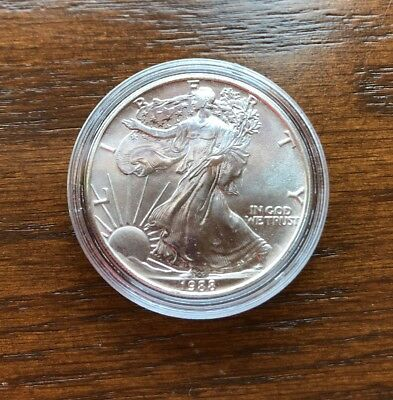 1988 Silver American Eagle. 1oz Pure Silver. BU CONDITION!!