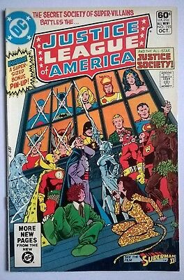Justice League of America #195, FN+, Gerry Conway, George Perez, DC Comics.