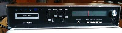Ross AM-FM 45W Stereo Receiver  8-Track Tape Player Model 6800 All Working NICE