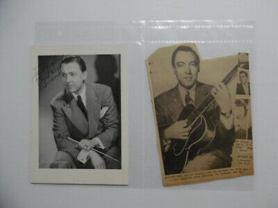 1947 ALVINO REY Pioneering Jazz Guitarist Bandleader Signed Inscribed Photo More