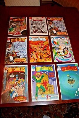 The Outsiders Comic Book lot of 9: Issues 3, 5, 6 (x2), 13, 15, 25, 26 Batman