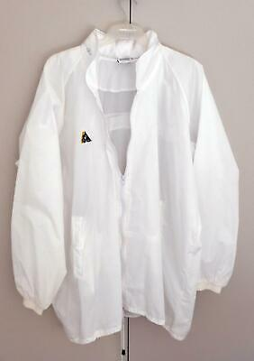 Lawn Bowls Clearance: NEW Domino White Rain Jacket Size 22 /3XL POST INCLUDED