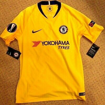7bc565129c8f Chelsea FC Nike away Yellow Shirt Jersey Mens Medium 2018-2019 Europa League