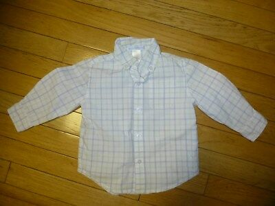 Janie And Jack Baby Boys Button Down Shirt Plaid Size 12-18 Months Nice