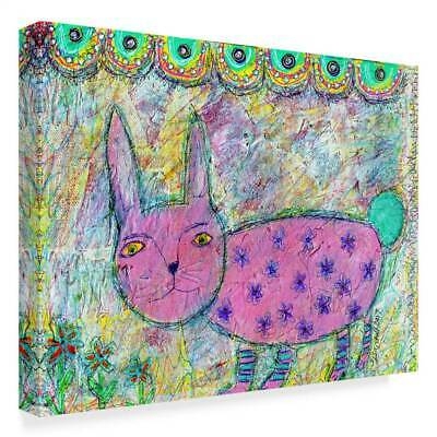 Funked Up Art 'Pink Bunny' Gallary Wrapped Canvas Art [ID 3769307]